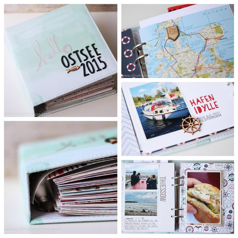 Urlaubs-Familienalbum selber basteln: als buntes Scrapbook