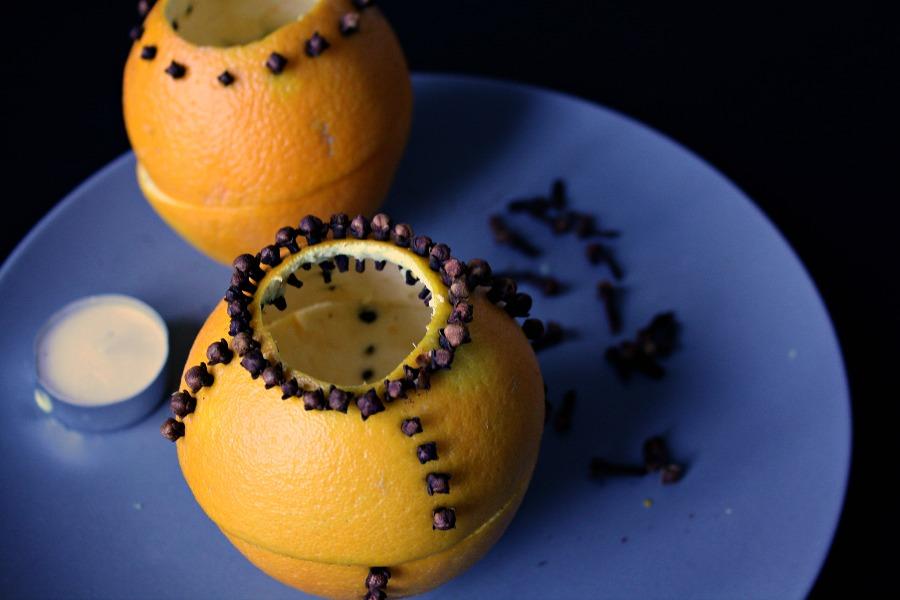 Orangenteelicht mit Nelken selber machen: Schritt 5