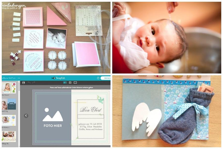 Taufkarten selber gestalten - DIY-Ideen