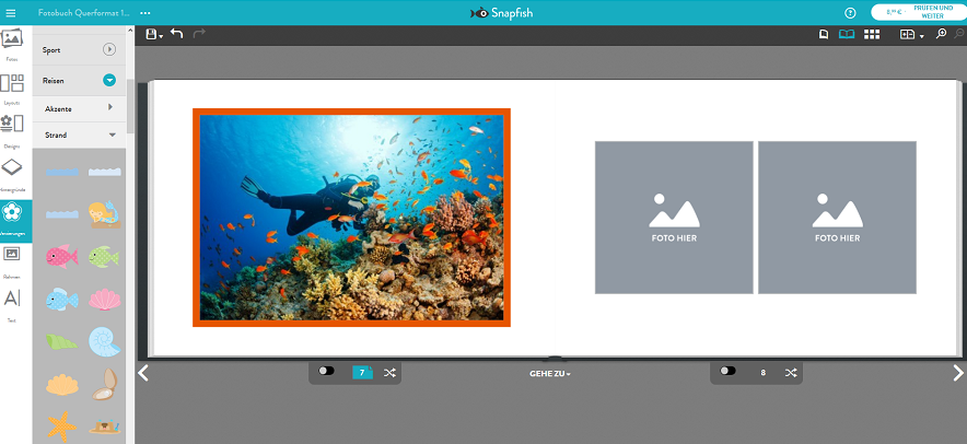 Snapfish Fotobuch gestalten