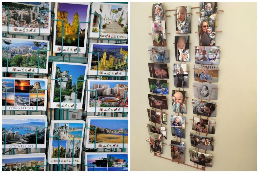 Postkartenhalter als Geschenk