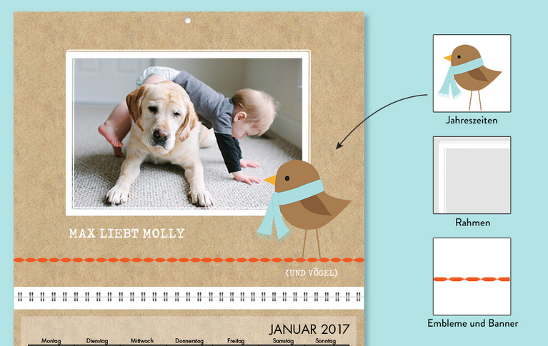 Kalender Verzierungen