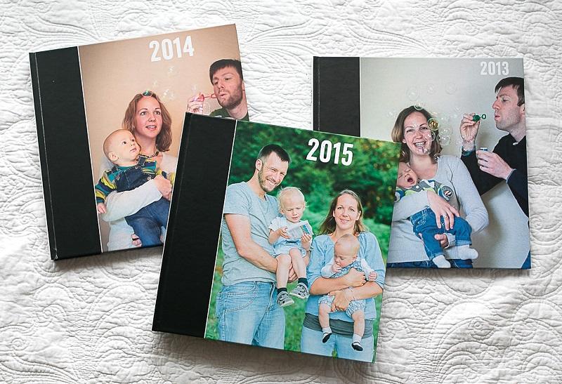 drei Familien-Fotobücher von Julia Erz