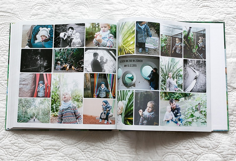 Fotobuch mit Familienfotos