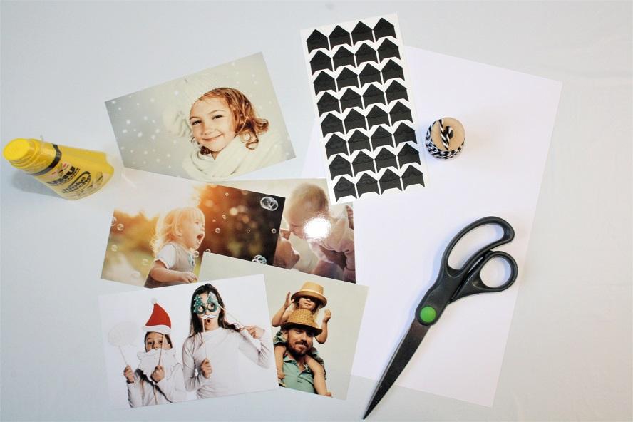 Material um Foto-Anhänger zu basteln