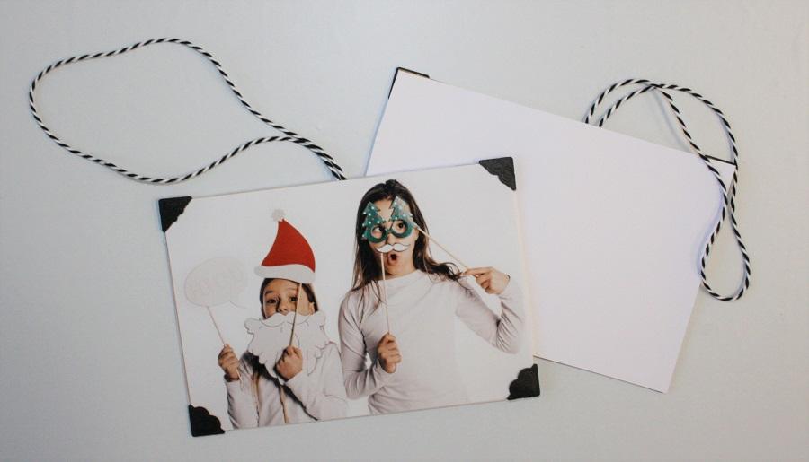 Anhänger für den Weihnachtsbaum mit Foto