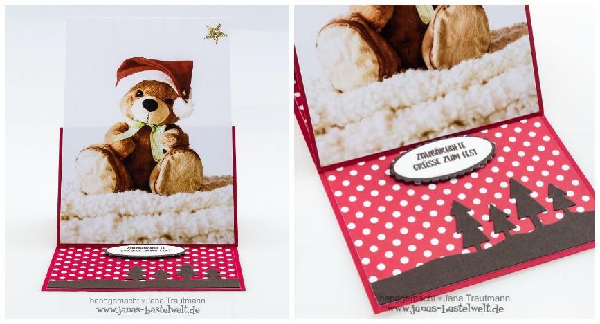 selbstgebastelte Weihnachtskarte mit Foto