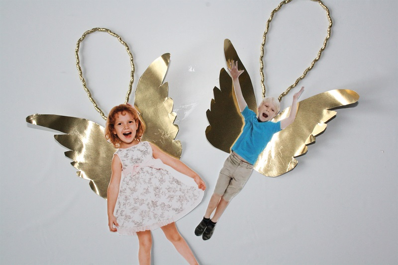 Engel als Christbaumanhänger zum selbermachen