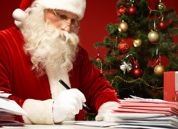 Briefe schreiben an den Weihnachtsmann