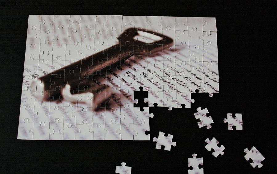 Foto-Puzzle mit fehlenden Teilen
