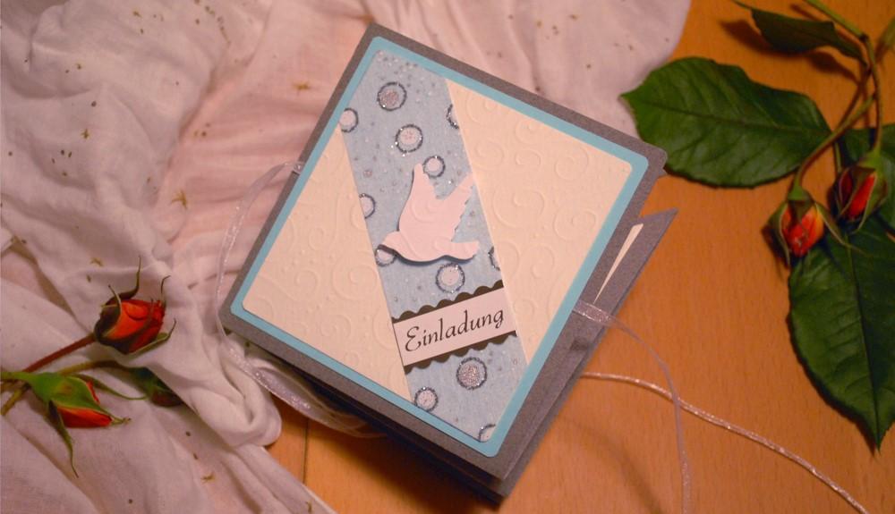 blaue Karte für Jungen