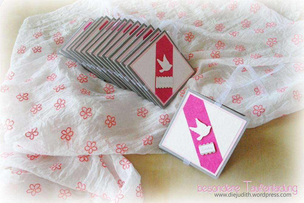 rosa Karte für Mädchen