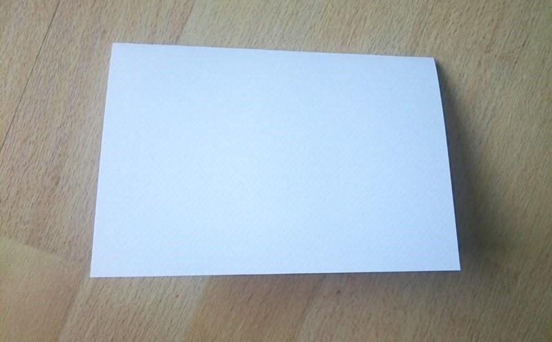 """der weiße Karten-""""Rohling"""""""