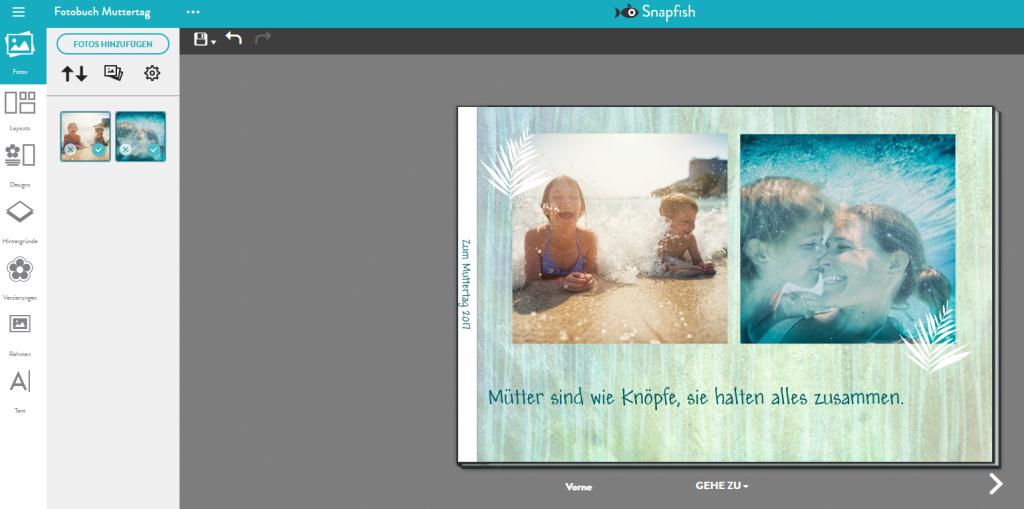 Fotobuch Gestaltung mit Snapfish